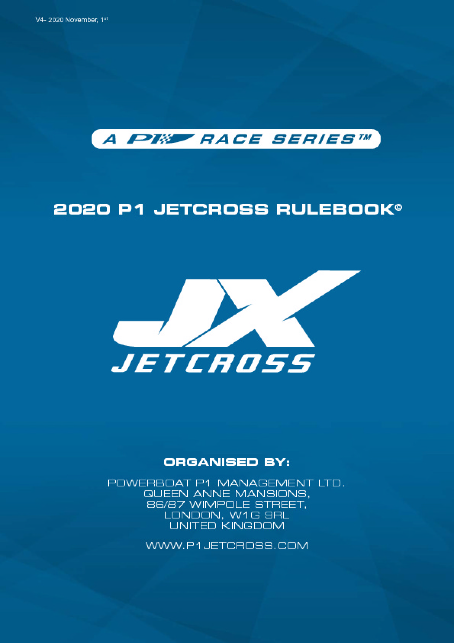 2018 P1 JETCROSS SPORT & TECHNICAL RULES
