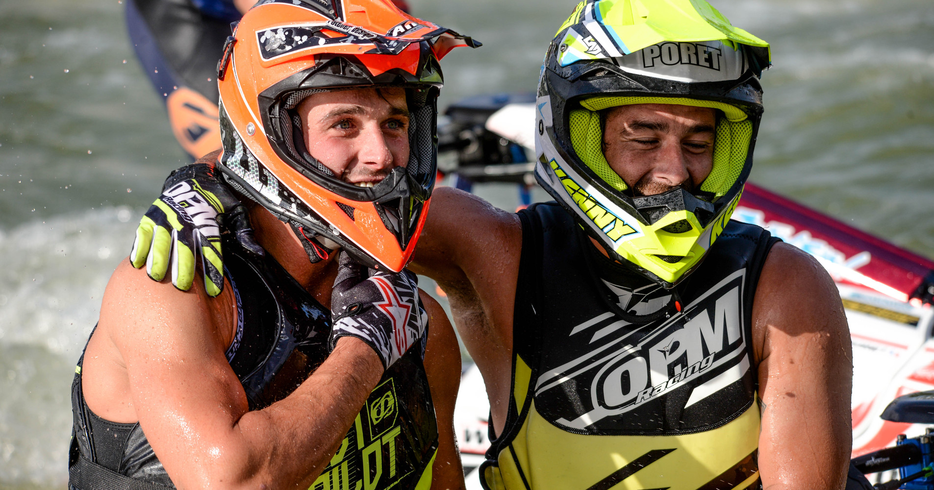 Steven Loiodice (left) and Mickael Poret (right) both will be ride the new Bullett V3 hull in 2018