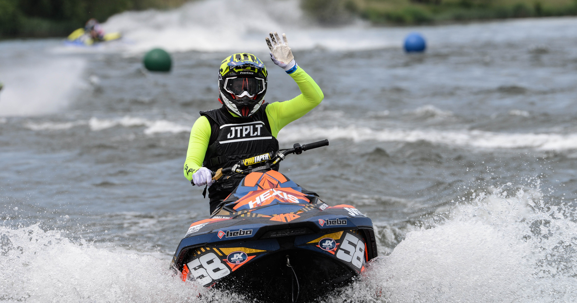 First victory on the Jetcross in the Pro-Am Sport class for Tom Baudoin, EKD Graphic owner