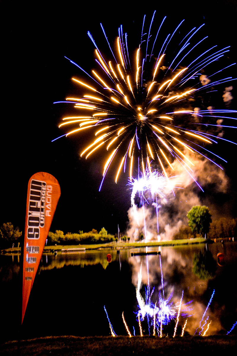 Fire works on Saturday night just after JX Dual slalom presented by Jet-Net.org