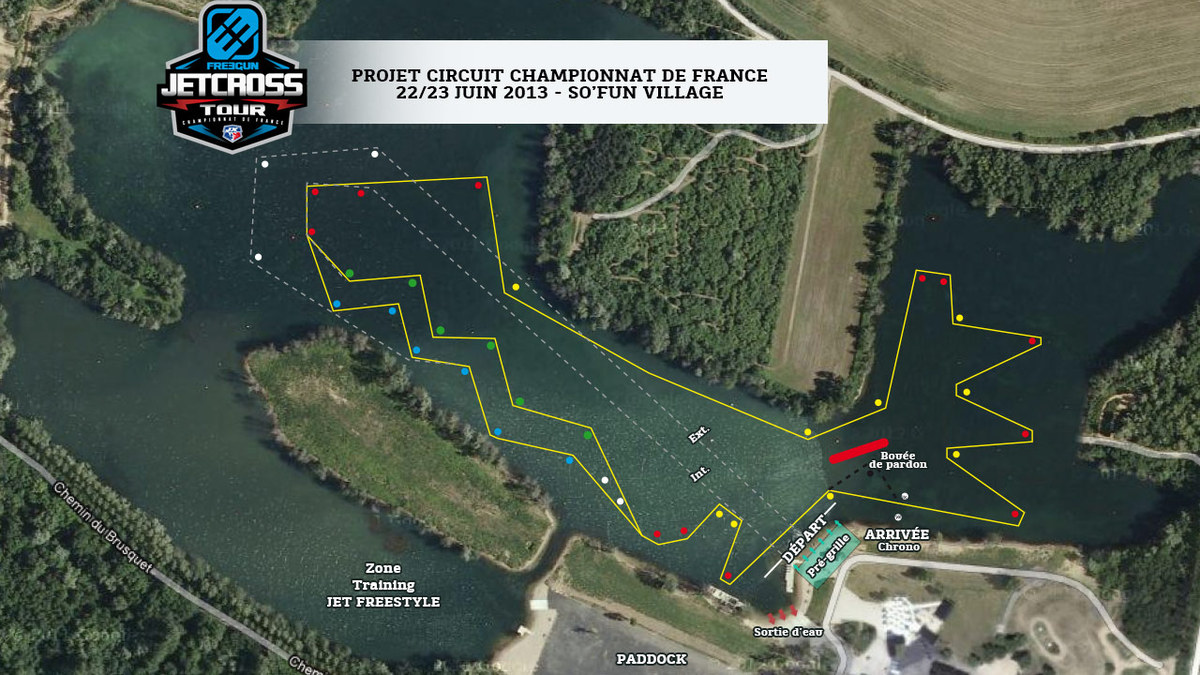P1 Jetcross example race course layout