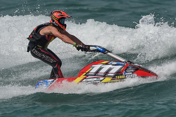 Steven Loiodice for the last time on his Zapata hull powered by Kawasaki 2 stroke engine