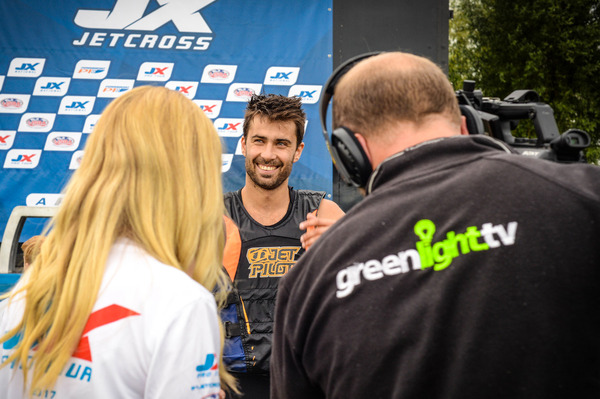 It's TV interview for OHC Yamaha rider Morgan Poret