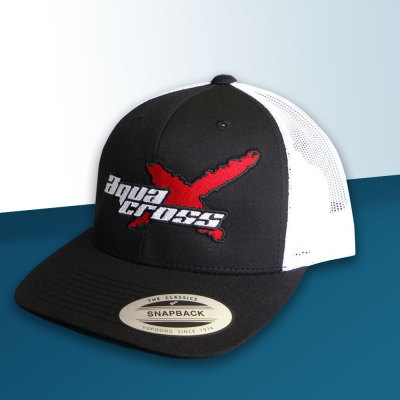 Picture of Black and White AquaX Trucker Cap